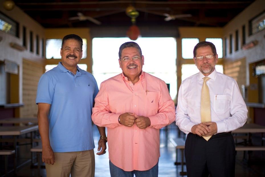 Pedro Rosa Nales, Jorge Rivera Nieves y Efrén Arroyo fueron destacados telereporteros y anclas de los noticiarios en los años 90.
