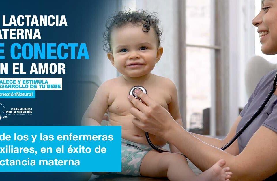 El éxito de la lactancia materna depende también de enfermeras y auxiliares